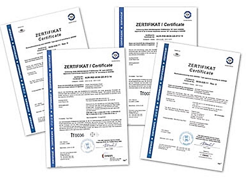 ALUGAS Zertifizierungen